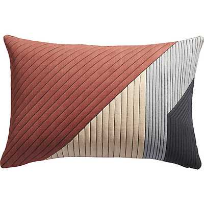 Pata pillow - 18x12 -Multicolored- Down Insert - CB2
