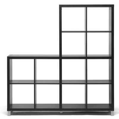 Baxton Studio Sunna Dark Brown Modern Cube Shelving Unit - Overstock