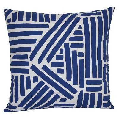 "Room Essentialsâ""¢ Outdoor Pillow - Blue Marker- 15.000L x 15.000W- Polyester insert - Target"