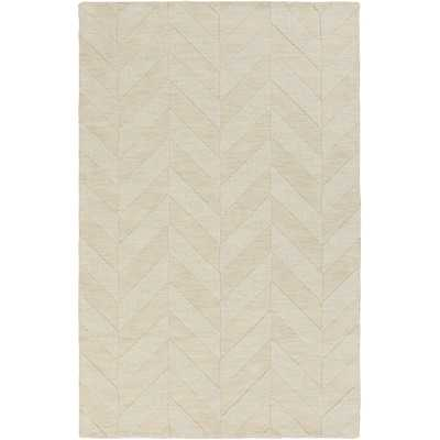 Central Park Ivory Chevron Carrie Area Rug - Wayfair