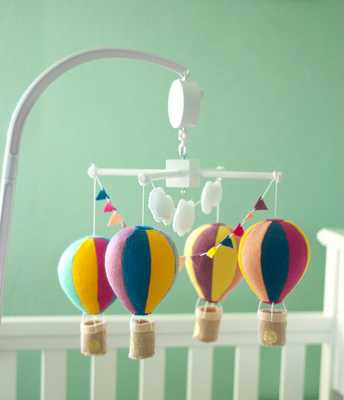 Hot air balloon baby crib-Just mobile - Etsy