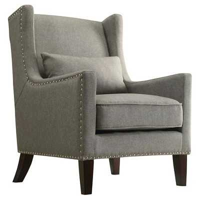 Inspire Q Murray Wingback Arm Chair - Grey - Target