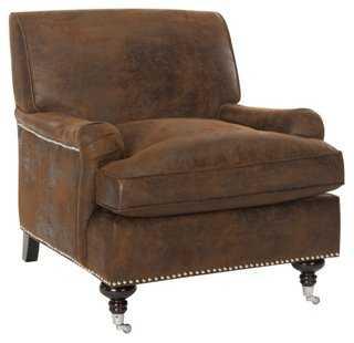 Katerina Club Chair, Chocolate - One Kings Lane