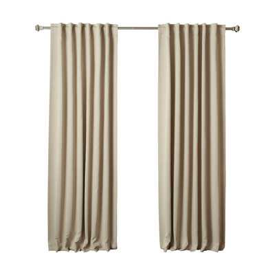 "Thermal Insulated Blackout Curtain Panel-96""L x 52""W - Wayfair"