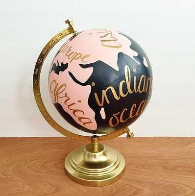 Painted globe - Etsy