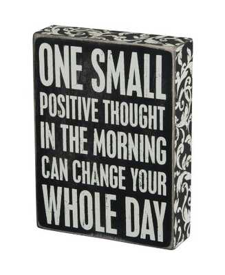 Primitives by Kathy Box Sign, 6 by 8-Inch, Positive Thought - Amazon