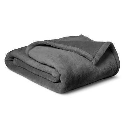 Plush Blanket - Gray, Twin - Target