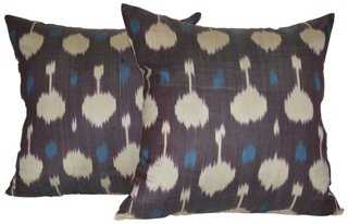Ikat Pillows, Pair - One Kings Lane
