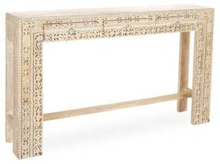 Violet Console Table, Whitewashed - One Kings Lane