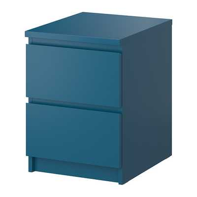 MALM 2-drawer chest, turquoise - Ikea