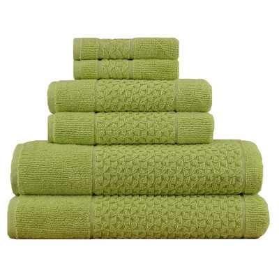 Lucia Minelli Jacquard Mei Tal Classic 6 Piece Towel Set - Wayfair