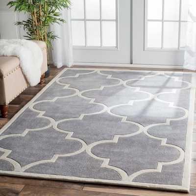 nuLOOM Handmade Luna Moroccan Trellis Rug (10' x 14') - Overstock