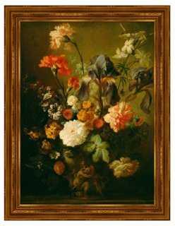 Jan Van Huysum, Vase of Flowers 23x30 framed - One Kings Lane
