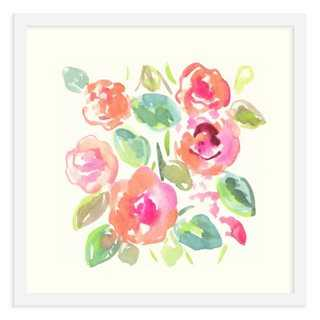 """Ayelet Iontef, Bouquet- 16"""" x 16""""- With White Frame - One Kings Lane"""