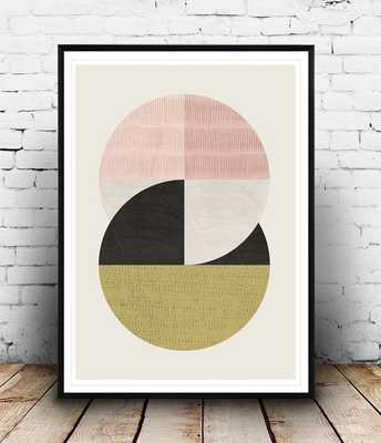 Pastel colors, modern wall art - Etsy