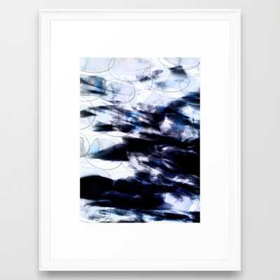 FRAMED ART PRINT / SCOOP WHITE MEDIUM - Society6