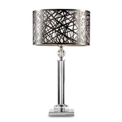 """Chic Array 27.5"""" H Table Lamp with Drum Shade - AllModern"""
