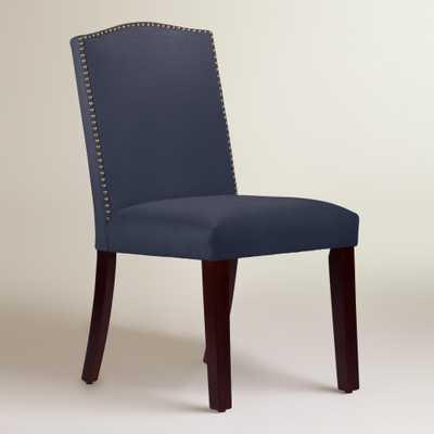 Velvet Abbie Upholstered Dining Chair - Ocean - World Market/Cost Plus