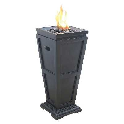 "Uniflame Medium 28"" LP Gas Fire Column with Black Fire Glass - Target"