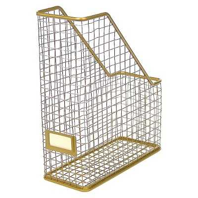 Gold Rustic Wire Magazine Holder - Target