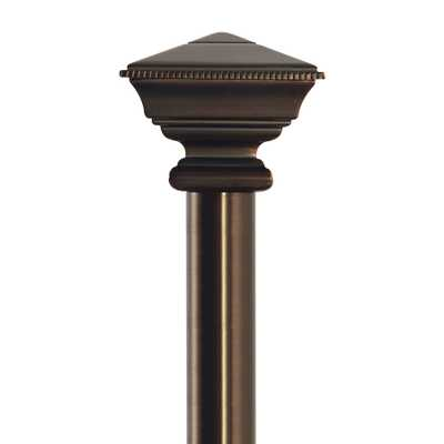 allen + roth 72-in to 144-in Sienna-Bronze Metal Single Curtain Rod - Lowes