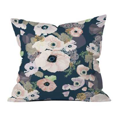 """Une Femme Throw Pillow - 18"""" L X 18"""" H - With insert - Domino"""