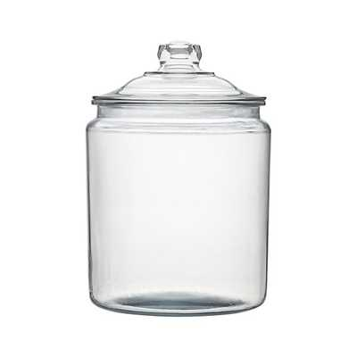 Heritage Hill 256 oz. Glass Jar with Lid - Crate and Barrel