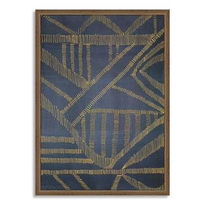 Framed Print - Gold Lines - West Elm