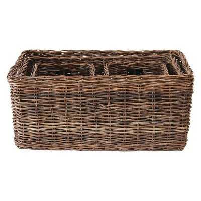 """Vine Rope Weave Baskets, Natural (30-1/4""""L ) - Target"""