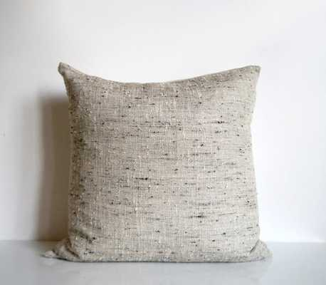 Modern pillow in natural oatmeal beige-16 x 16- Insert Sold Separately - Etsy