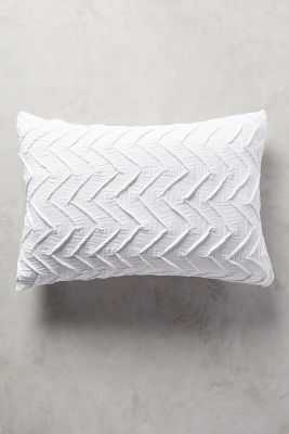 Textured Chevron Standard Shams - White - Set of 2 - Anthropologie
