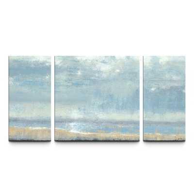 Shoreline View Textured 3 Piece Painting - Wayfair