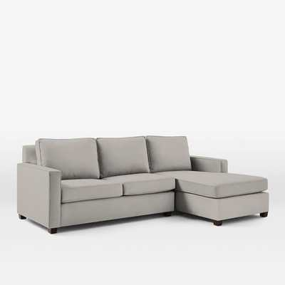 Henry® 2-Piece Right Chaise Sectional - Marled Microfiber, Ash Gray - West Elm