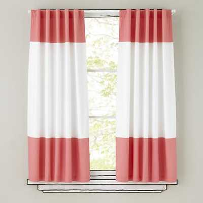 """84"""" Pink Color Edge Curtain - Land of Nod"""