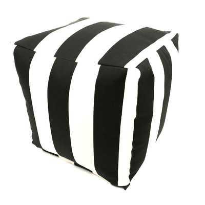 Striped Pouf Ottoman - Wayfair