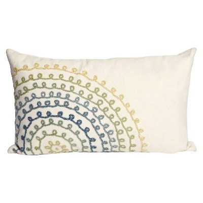 Ombre Threads Decorative Indoor/Outdoor Pillow - Cool - 12x20- Polyester fill insert - Target