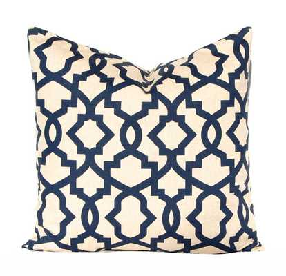 Decorative Throw Pillow Covers Navy Taupe Aqua - 18x18 - Insert Sold Separately - Etsy