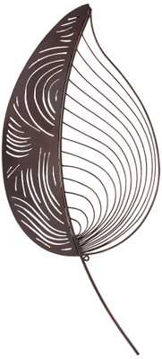 "Palm Leaf - 30"" high. 13 3/4"" wide-  Metal Wall Art- Unframed - Lamps Plus"