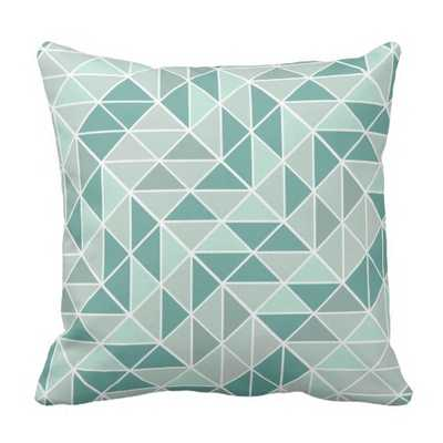 "Abstract Triangle Pattern Throw Pillow - 16"" x 16"" - Synthetic-filled - zazzle.com"