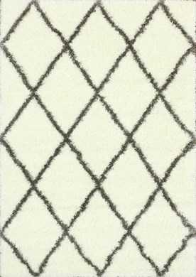 """Moroccan Diamond Shag Rug-6'7"""" X 9""""-Brown - Rugs USA"""