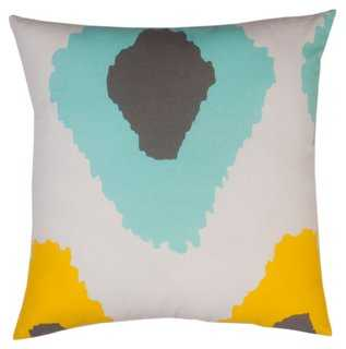 Ikat Cotton Pillow - 20x20, With Insert - One Kings Lane