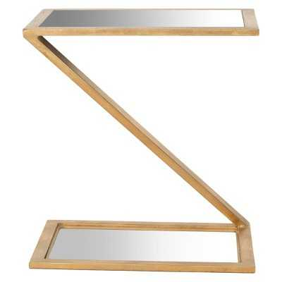 Safavieh Andrea Accent Table - White/Gold - Target