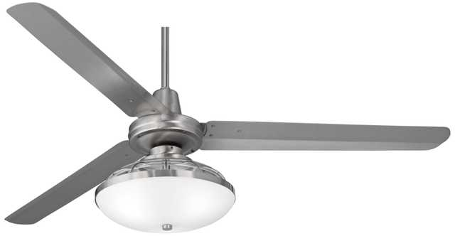 """60"""" Turbinaâ""""¢ Brushed Steel Industrial Ceiling Fan - Lamps Plus"""