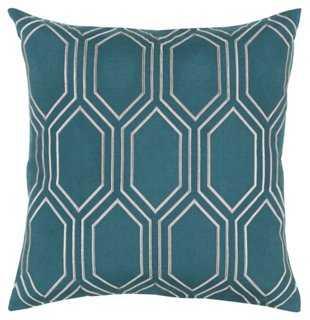 Skyline Pillow, Emerald - One Kings Lane