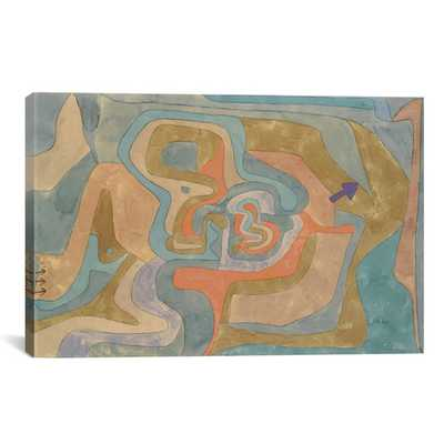 """'Flying Away 1934' by Paul Klee Painting Print on Canvas-26""""x40""""x0.75''-Unframed - AllModern"""