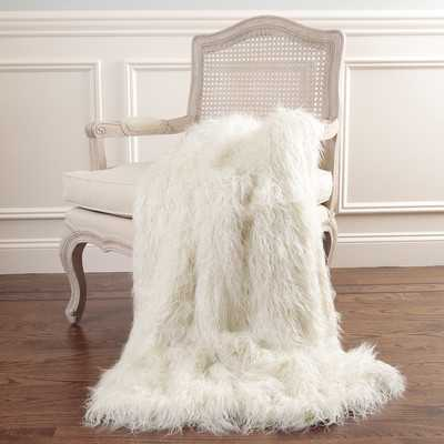 Mongolian Lamb Faux Fur Throw Blanket - Wayfair