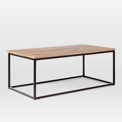 Box Frame Coffee Table - Raw Mango - West Elm