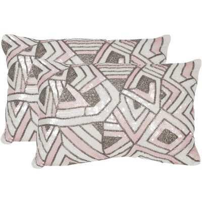 Safavieh Ricci Pale Pink Throw Pillows - Overstock