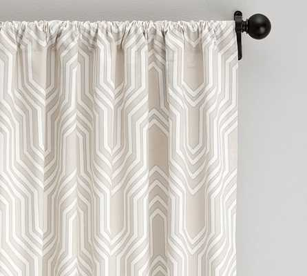 "Isla Print Drape - 50 X 96"" - LIGHT TAUPE - Pottery Barn"
