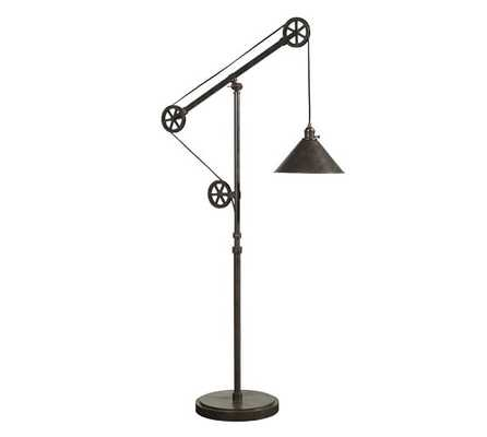 Warren Pulley Task Floor Lamp-: Floor Lamp With CFL Bulb - Pottery Barn